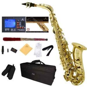 Saxofón Alto Mendini Cecilio Dorado + Accesorios