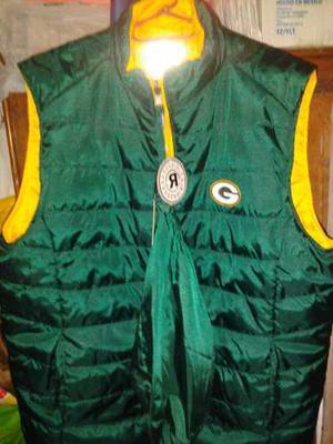 Chaleco Nfl Green Bay Packers, 2 Vistas Verde/amarillo Nuevo