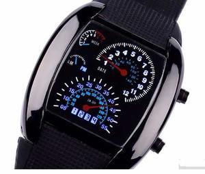 Reloj Aviation Tipo Velocimetro Luz Led Ultra Brillante