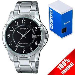 Reloj Casio Caballero Mtpv004 Negro Acero - Fechador