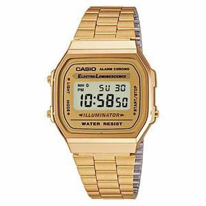 Reloj Casio Dorado Vintage A168 Con Caja