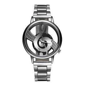 Reloj Clave De Sol Nota Musical Acero Inoxidable + Mayoreo
