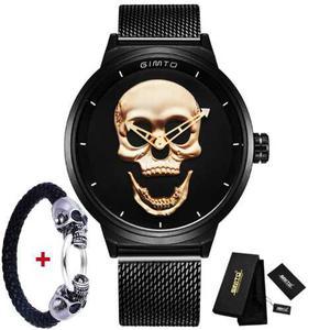 Reloj Pulsera Brazalete Calavera Skull Craneo Metalslironkor
