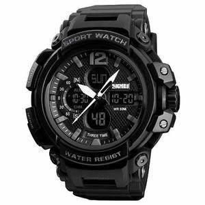 Reloj Skmei  Hombre Deportivo Tipo Militar Hora Dual