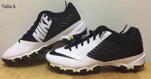 Tachos Spikes De Americano Nike Speed Shark Blanco Y Negro
