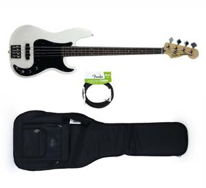 Bajo Fender Precision Deluxe Active Olympic White+cable