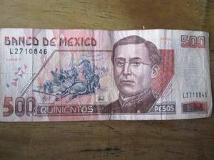Billete 500 Pesos Ignacio Zaragoza