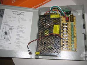 Fuente De Poder Regulada 8 Camaras Regulada Y Audio