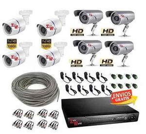 Kit Cctv Video Hd 720p Y 2mp Dvr 8 Camaras Vigilancia 2tb