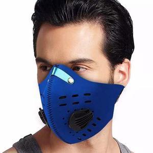 Mascara De Neopreno Para Bicicleta Motociclista Azul D