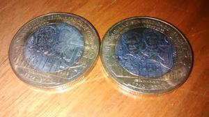 Moneda De 20 Pesos Bimetalica De La Escuela Naval