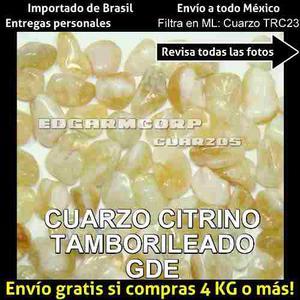 Cuarzo Trc23 Cuarzo Citrino Grande Tamborileado Por Kilo