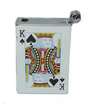 Encendedor Recargable En Forma De Mazo De Poker. Con Toques