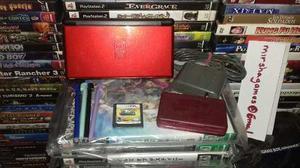 Nintendo Ds Lite Rojo Con Negro Y Pokemon Ranger Almia,bueno