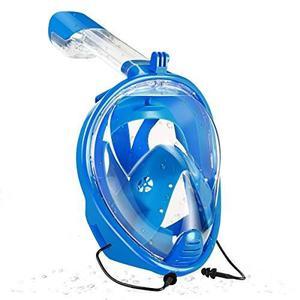 Máscara De Snorkel De Cara Completa 180 °, Compatible Con