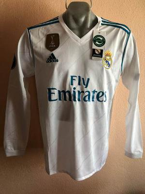 Jersey Playera Real Madrid Manga Larga Champions League