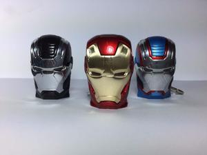 Memorias Usb Figuras Cara Iron Man Roja 16gb