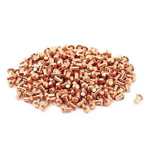 200 Pc 5/64 X 1/8 De Cabeza Redonda De Cobre Sólido Remach