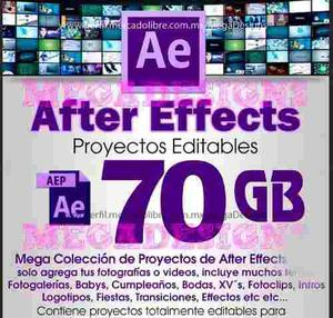 +250 After Effects Super Coleccion Plantillas Editables 70gb