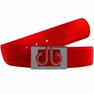 Cinturón Druh Rojo De Piel Para Golf Unitalla
