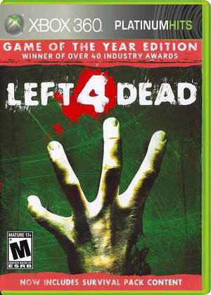 ¡¡¡ Left 4 Dead Para Xbox 360 En Wholegames !!!