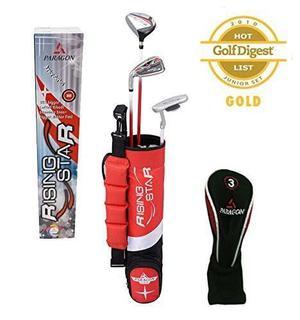 Paragon Golf Juvenil Club De Golf Set, Rojo, Edades 3-5 - D