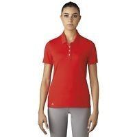 Playera Tipo Polo Para Golf adidas Naranja Para Mujer