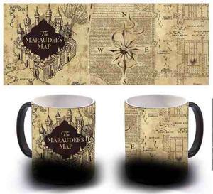 Taza Magica Harry Potter Mapa Del Merodeador Premium!