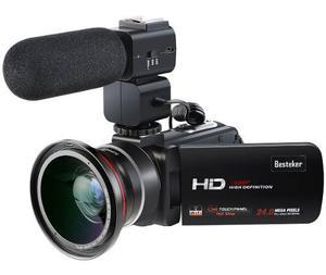 Videocámara Besteker Hd 30fps Wifi Microfono Lente -negro