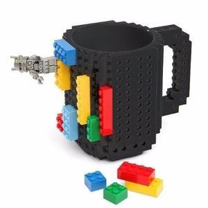 Taza Build-on Con Diseño De Bloks De Construccion Lego