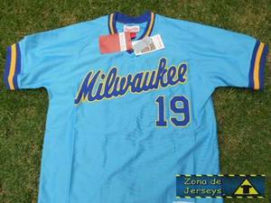 Jersey Béisbol Milwaukee Brewers Retro  Cerveceros 19