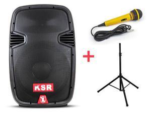 Kit Bafle 15 Bluetooth Bocina + Tripe + Microfono + Control