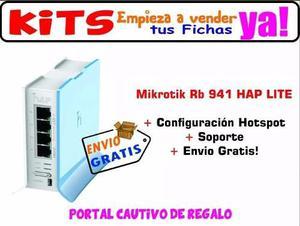 Mikrotik Rb941 Haplite + Vende Internet Por Fichas + Hotspot