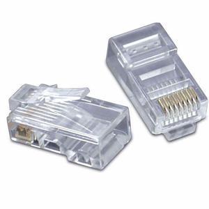 Paquete 100 Conectores Plug Rj45 Para Cable Red Utp Wd5