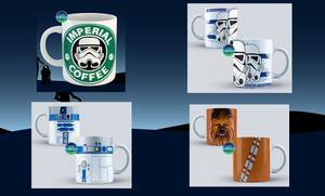 Taza Star Wars, Stormtrooper, Han Solo, R2-d2, Darth Vader