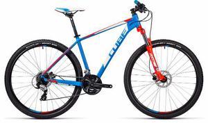 Bicicleta Cube Aim Pro Azul Y Rojo