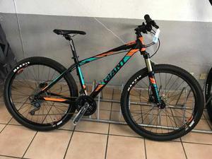 Bicicleta Mtb Giant Talon  Talla M Negro/naranja/verde