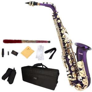 Saxofon Alto Mendini Lacado En Morado Mi Bemol