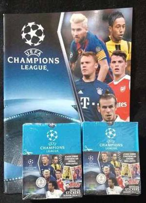 2 Cajas + Album Champions League  Topps