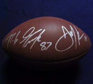 Balon Firmado Gronkowski Y Edelman New England Patriots Nfl