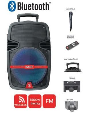 Bocina 12 Bluetooth Recargable Amplificada Usb Mp3 Aux Fm