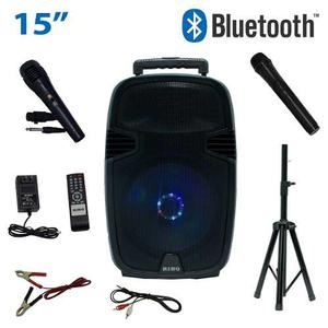 Bocina Amplificada 15 Portatil Recargable Bluetooth Tripie