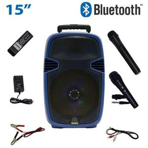 Bocina Amplificada 15 Portatil Recargable Bluetooth Usb/sd