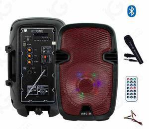 Bocina Amplificada Haler 8 Pulgadas Recargable Usb Bluetooth