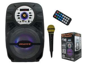 Bocina Amplificada Recargable 8 Dracos Bluetooth Micrófono