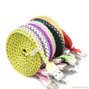 Cable Micro Usb Reforzado Tela 3 Metros Solo Carga
