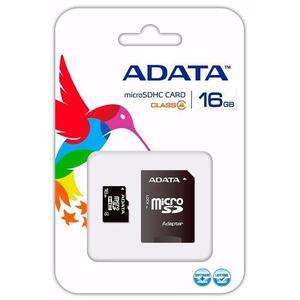 Memoria Adata Micro Sdhc C/adaptador Sd 16gb Ausdh16gcl4-ra1