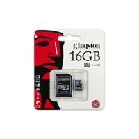 Memoria Flash Kingston 16gb Microsdhc Clase 4 Con Adaptador