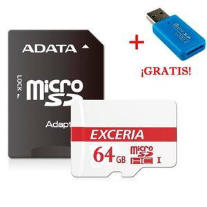 Micro Sd 64 Gb Con Adaptador Usb Y Sd Clase 10