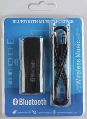 Receptor Bluetooth Usb De Audio Auxiliar De 3.5 Mm, Blister